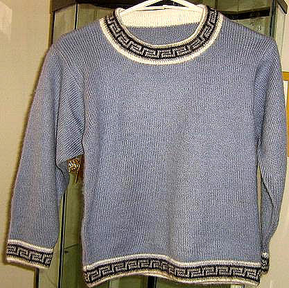 Light blue Toddlers sweater, Alpacawool knitted