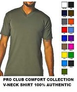 RED SHORT SLEEVE V-NECK T SHIRT by PRO CLUB COM... - $32.77 - $46.22