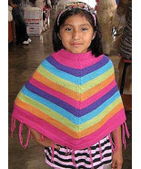 Colorful Poncho for girls,Cape made of alpaca wool  - $42.00