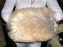 Pelt Hand warmer made of Alpaca fur
