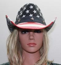Toyo American Flag Star Studded Straw USA Cowboy Hat NWT FREE Shipping! - $28.04