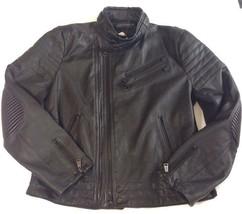 Ralph Lauren Black Label Mens Leather Jacket Grand Prix Large / XL - $864.25