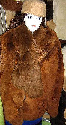Fur jacket,brown Babyalpaca pelt, outerwear