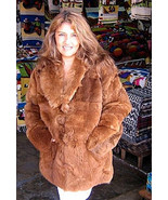 Brown pelt Jacket, coat made of Babyalpaca pelt  - $575.00