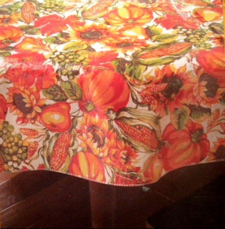 Fall Autumn Harvest Corn & Flowers Thanksgiving Vinyl 60 ...