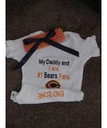 Chicago Bears Football Girls Baby Infant Newborn creeper Bodysuit Headba... - $34.99