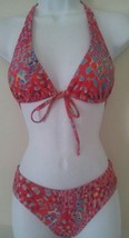 Candies Swim Bikini Junior Set Pink Multi Push Up Top Scoop Bottom XS M ... - $13.99