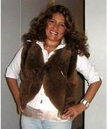 Brown fur vest made of Babyalpaca fur,outerwear  - $245.00