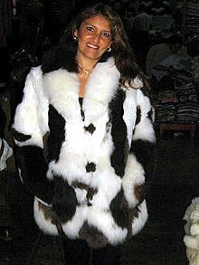Fur jacket made of Babyalpaca pelt, outerwear