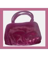 Burgundy Velvet & Satin 2 Straps Purse Handbag Evening Bag - $19.99