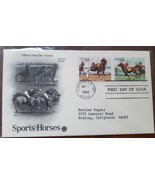 SPORTS HORSES 1993 First Day of Issue Harness Racing & Polo - $4.95