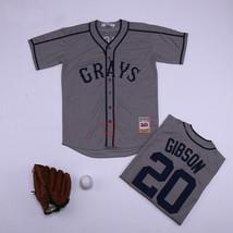 Throwback Grays Josh Gibson #20 Baseball Jersey Stitched Homestead - $34.65+