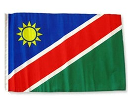 ALBATROS 12 inch x 18 inch Namibia Sleeve Flag for use on Boat, Car, Gar... - $17.38