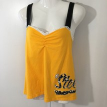 Reebok Pittsburgh Steelers Tank Top sz XL Shelf Bra Criss Cross Straps S... - €18,12 EUR