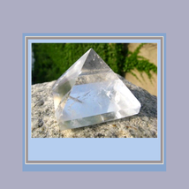 Genuine Clear Quartz Crystal Pyramid  1.42 inches Square