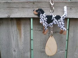 Bluetick Coonhound crate tag or hang anywhere decor, hound dog pet art h... - $22.00