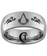 8mm Dome Tungsten Carbide Assassins Creed Laser... - $49.00