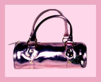 Primary image for HOT PINK & Gold Roll Purse Handbag Evening Bag