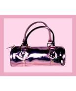 HOT PINK & Gold Roll Purse Handbag Evening Bag - $19.99