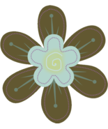 Mini Flower Brown Collage Sheet-Digital Downloa... - $4.00