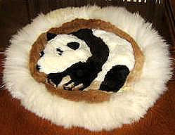 Table runner,Alpaca fur,40 cm (15.6)diameter