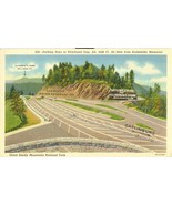 Parking Area at Newfound Gap, Great Smoky Mountains National Park linen ... - $4.99