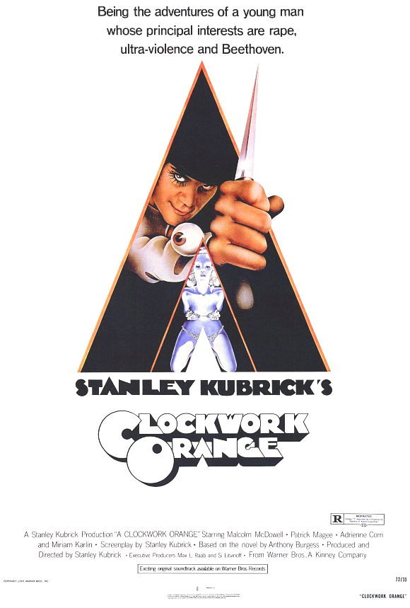 A clockwork orange movie poster 27x40