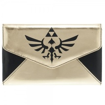 Zelda Skyward Sword Triforce Black Gold Envelope Purse Wallet *NEW* - $19.99