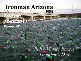 Triathlon Ironman Arizona Tempe 2011 Swim Bike Run Sports Poster 8 X 11 ... - $8.99