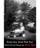Vintage Poster Radio Flyer Coaster Wagon Ad Little Boy's 2nd Birthday 19... - $8.99