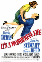 It's A Wonderful Life Movie Poster 27X40 In George Bailey Jimmy Stewart Oop Rare - $34.99