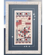 Patriotic Sampler cross stitch chart Jeanette D... - $13.50