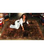 Dark brown Baby alpaca fur rug from Peru, 80 x ... - $182.00