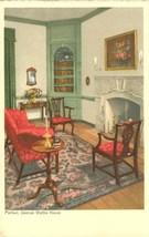 Parlor, George Wythe House, Williamsburg, Virginia, early 1900s unused P... - $4.50