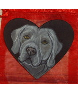 Weimaraner Dog Custom Hand Painted Pin Brooch - $16.00