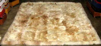 Beige babyalpaca fur rug,carpet of  59 x 43 Inches