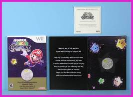 * Genuine Nintendo WII Super Mario Galaxy Commemorative Launch Coin + CO... - $14.99