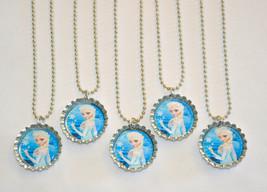 "Set of 5 DISNEY'S ""FROZEN"" ELSA  Bottle Cap Necklaces!! Great for birthd... - $6.00"