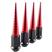20PC RED SPIRAL SPIKES 112MM 14X1.5 FORGED STEEL LUG NUTS CHARGER CHALLA... - $119.95