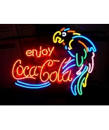 "Coca Cola Coke Parrot Beer Bar Neon Store Sign 17"" x 14"" - $159.00"