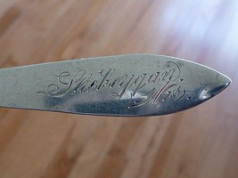 Estate SHEBOYGAN WI Wisconsin Sterling Silver Souvenir Spoon - $19.99