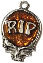 RIP Skull Fine Pewter Pendant Approx. 1 5/8 inches tall image 5