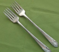 "Crown Silverplate 1939 Radiance Pattern 2 Grille Forks Viande  7 5/8""  IS  - $6.92"