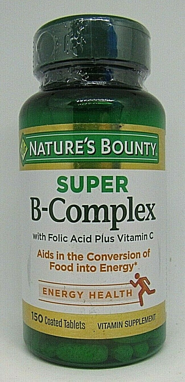 Primary image for Nature's Bounty Super B-complex with Folic Acid Vitamin C 150 Coated Tablets
