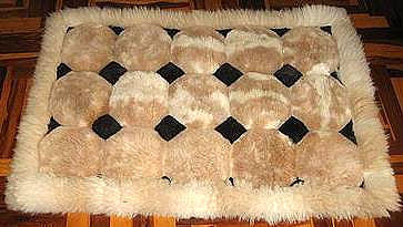 Alpaca fur rug,carpet of  39.3 x 23.6 Inches