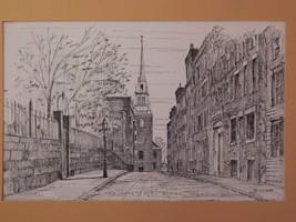 C  M Goff . North Church, Boston, Print. - $38.00