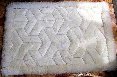 White alpaca fur rug from Peru,carpet of 39.3 x 23.6 Inches