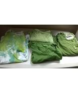 Mossimo Set of 3 Women's Top & T-Shirts Green Large w/Bonus Hanes Tie Dy... - $18.99
