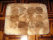 Alpaca fur rug from Peru,carpet 39 x 24 inches