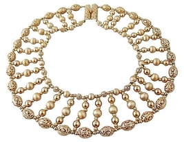 Napier BOOK PIECE Wide Egyptian Revival-Style Runway Couture Necklace 1960s - €325,77 EUR